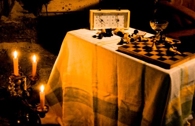 Шахматы романтика свечи